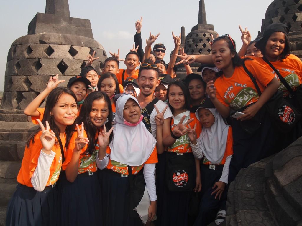インドネシアジャワ島ボロブドゥールにて