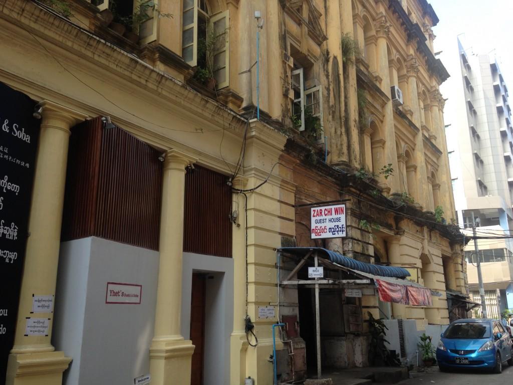 ヤンゴンのゲストハウス