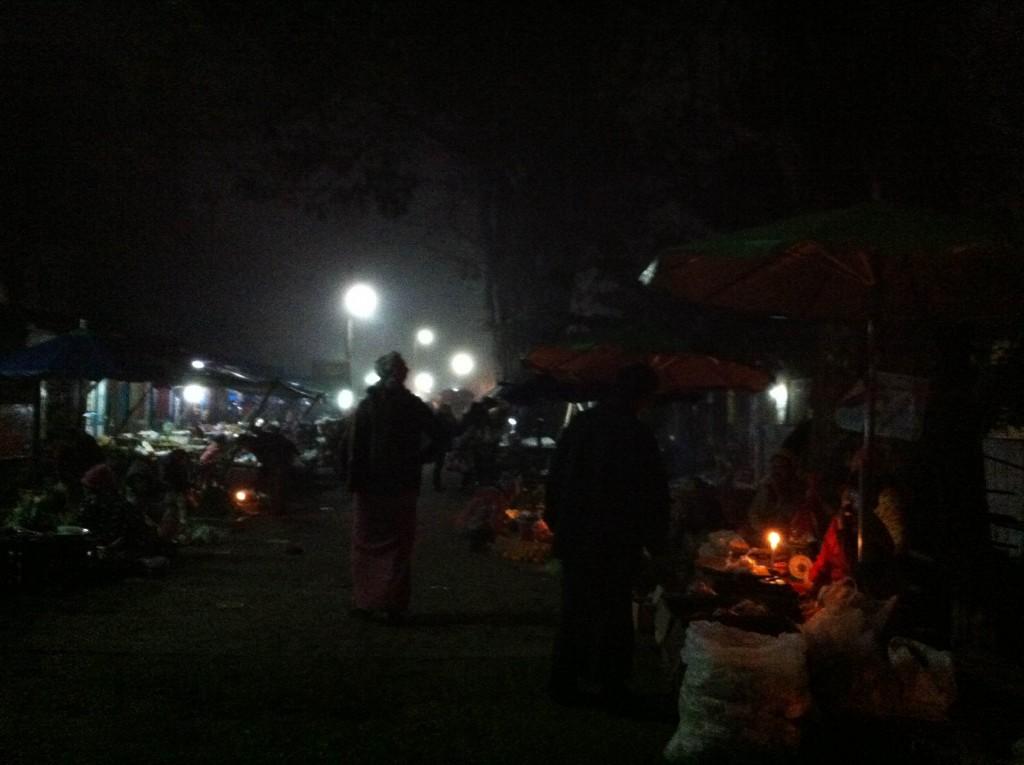 ミャンマー北部 シーポー朝市