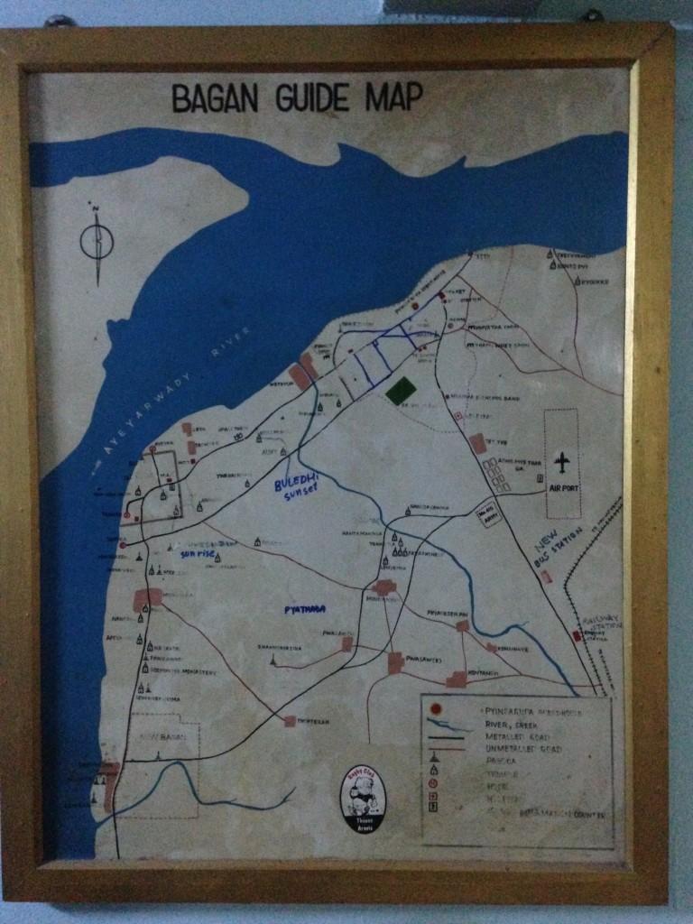 バガン ゲストハウス 日本語 スタッフ 地図