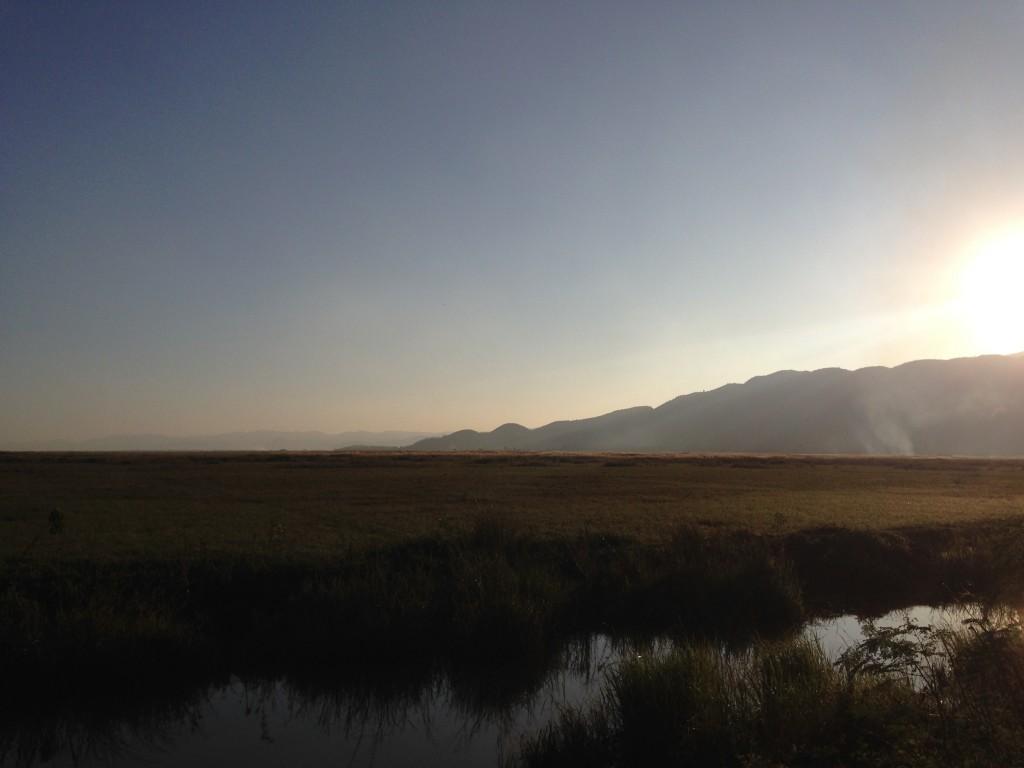 インレー湖の夕方