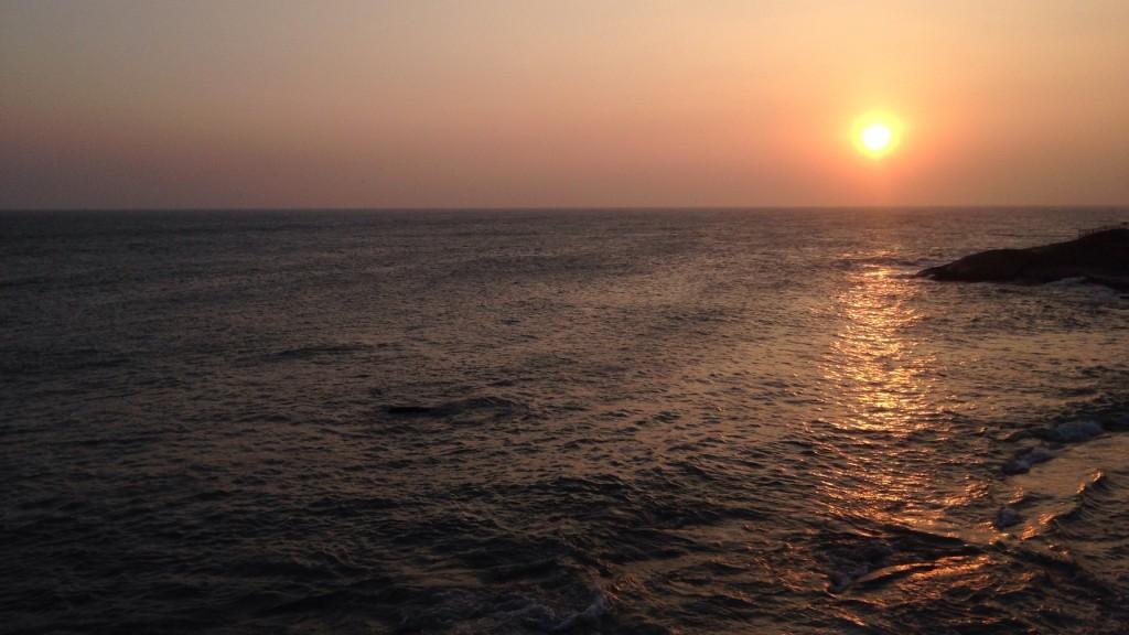 インド 亜大陸 最南端 夕陽 サンセット