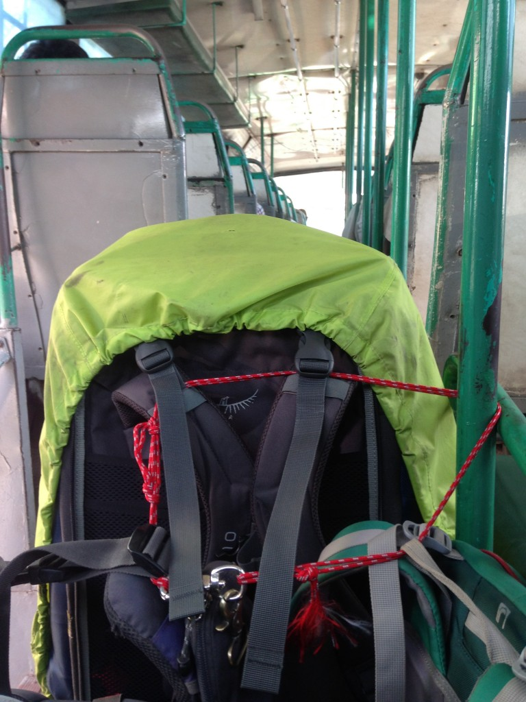 ローカルバス 移動 荷物 紐 ベルト