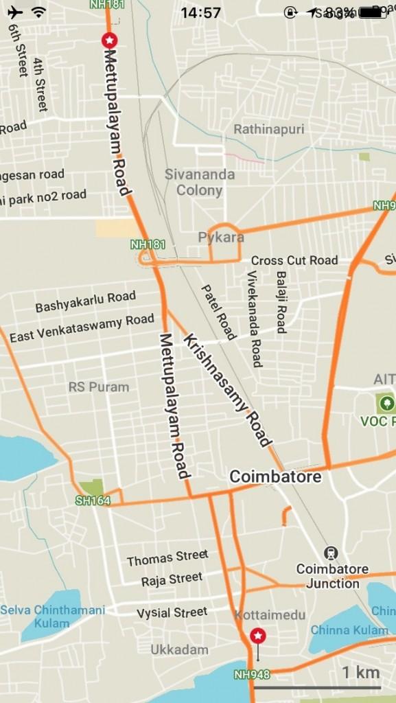コインバトール 地図
