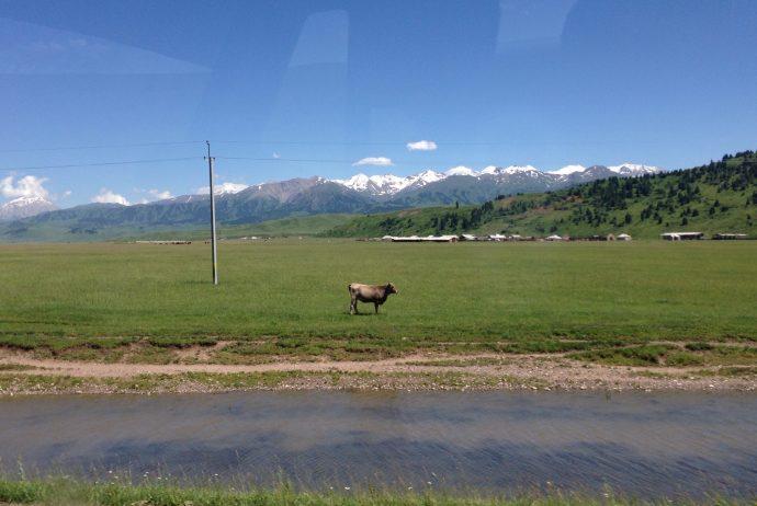 キルギス カザフスタン 中国 国境 陸路