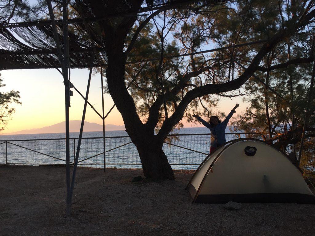 ギリシャ ザキントス島 海 キャンプ