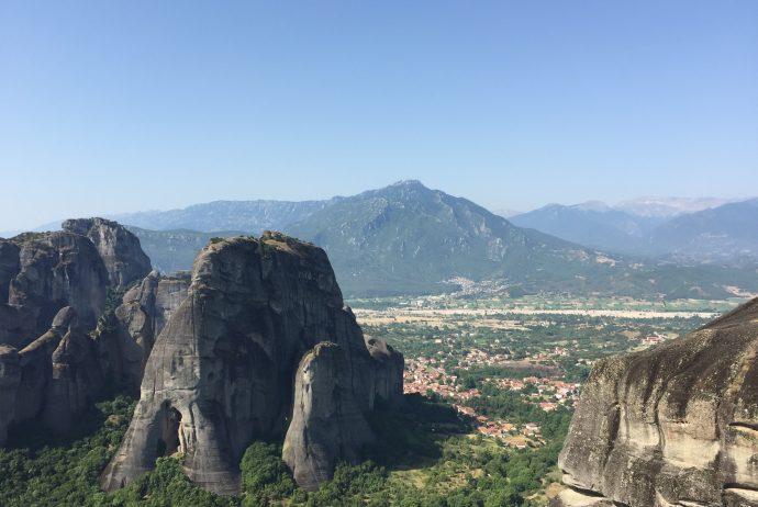 ギリシャ 世界一周 メテオラ 自然 岩 山 キリスト教