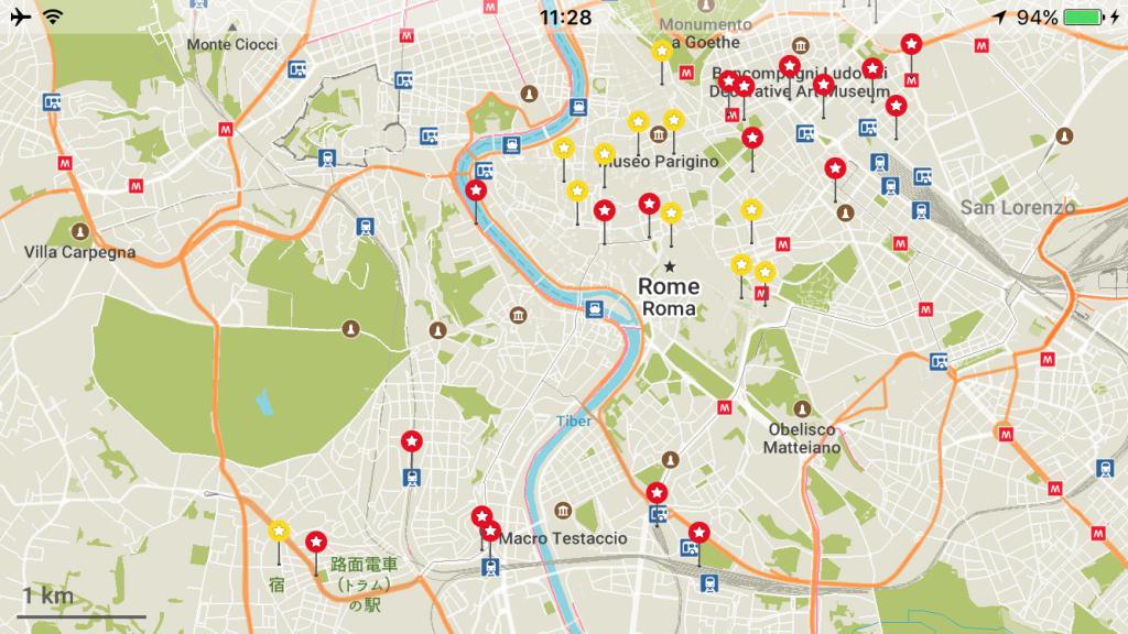 イタリア 安宿 世界一周 ローマ 地図