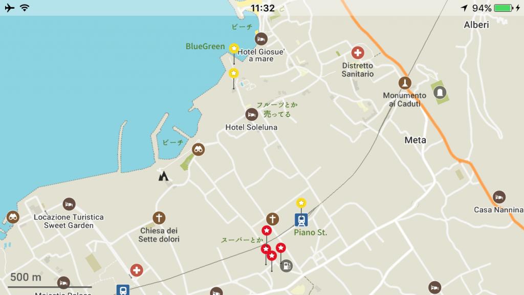 イタリア 安宿 世界一周 ピアノ 地図