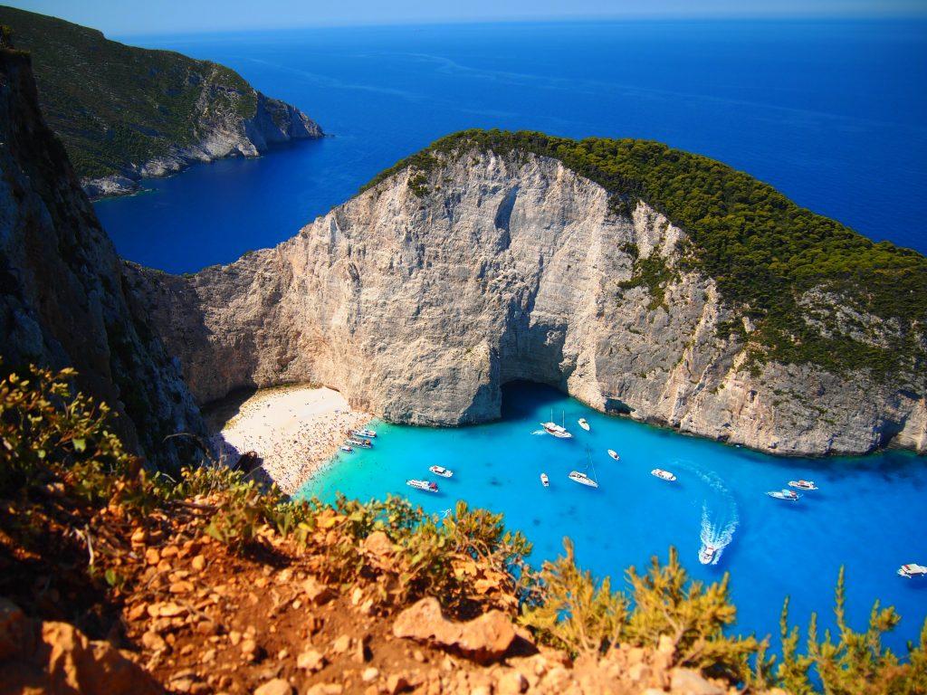 世界一周 ギリシャ ザキントス島 ナヴァイオビーチ 紅の豚 モデル ビーチ