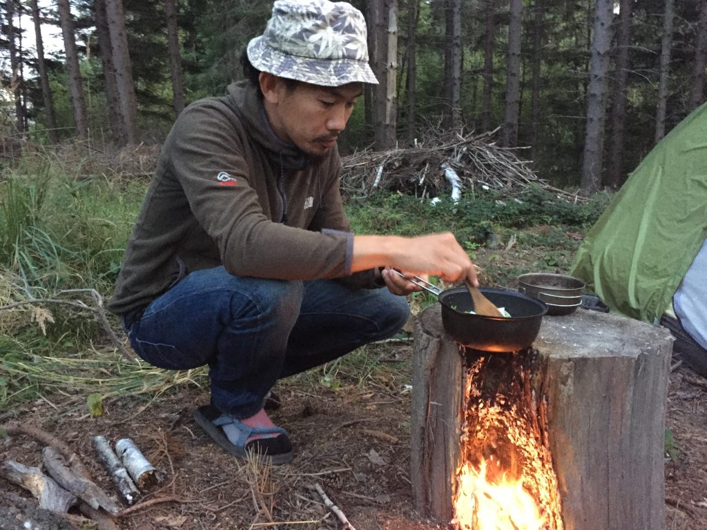 世界一周 ポーランド 国境 キャンプ 自炊