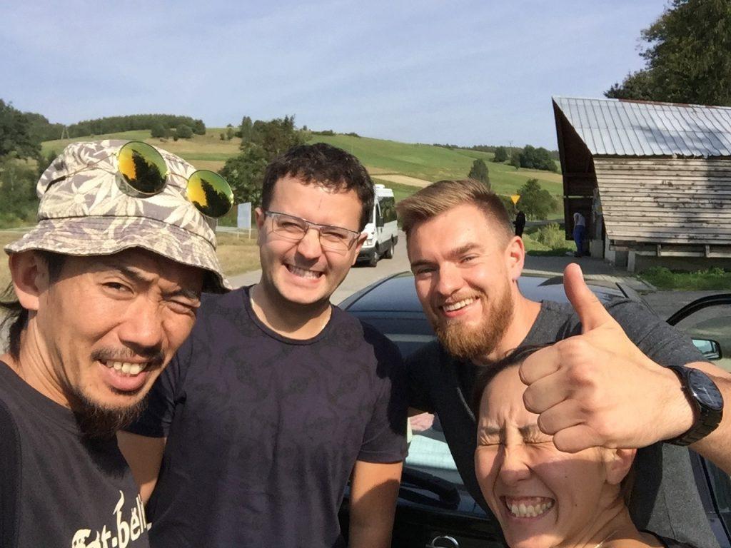 ポーランド サノク ヒッチハイク