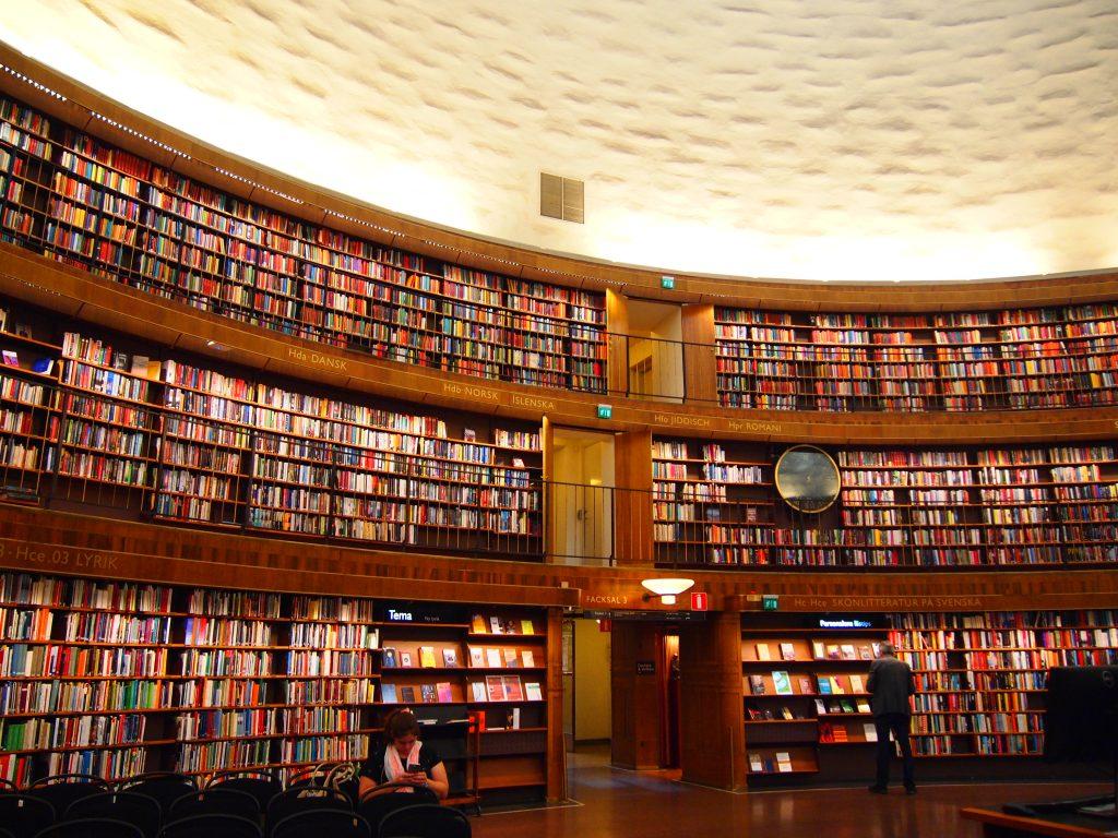 世界一周 スウェーデン ストックホルム 図書館