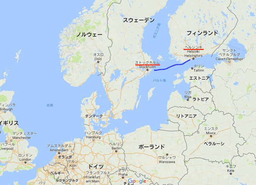 世界一周 スウェーデン ストックホルム 地図