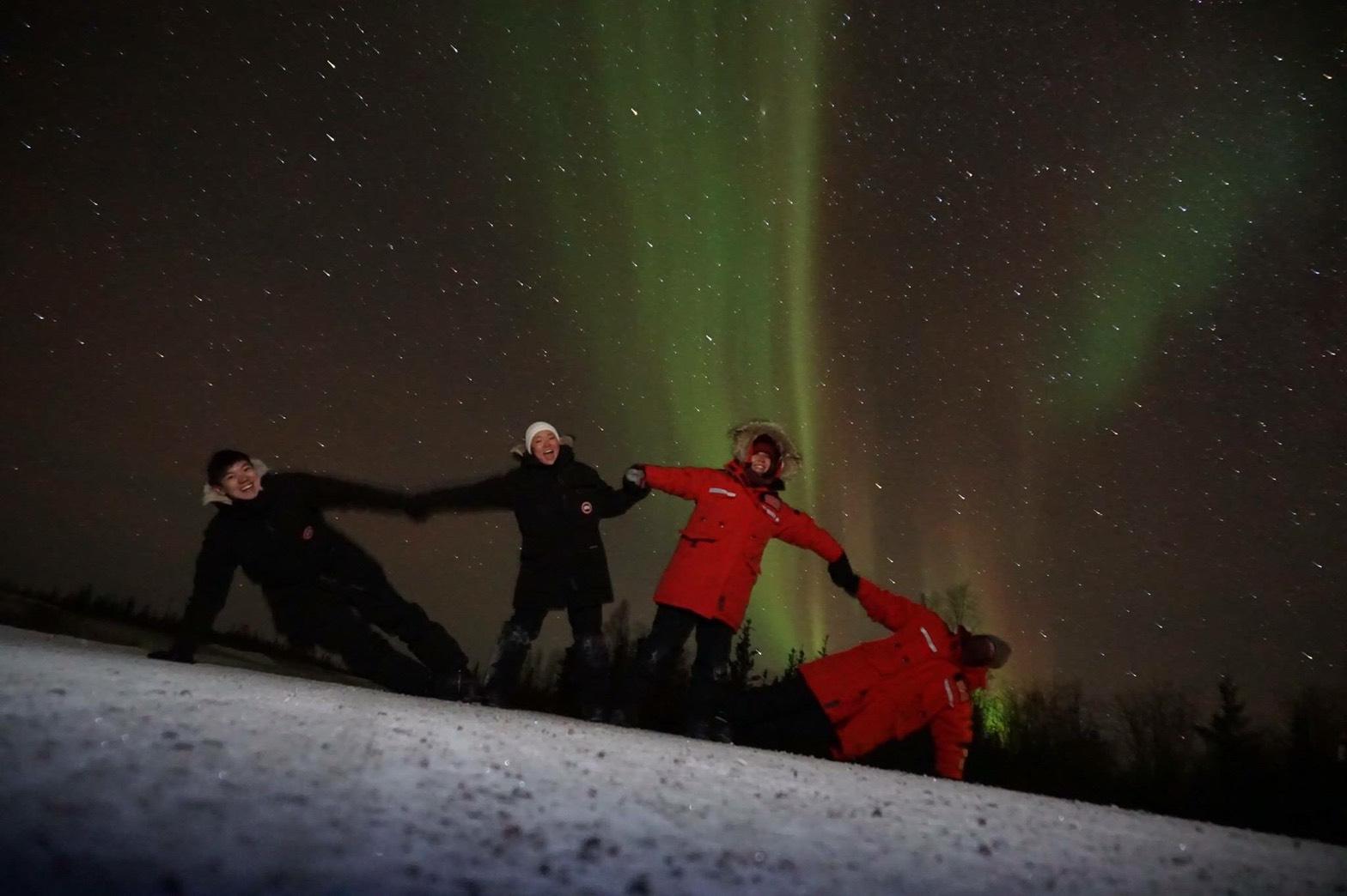 世界一周 ブログ カナダ イエローナイフ 観光 オーロラ