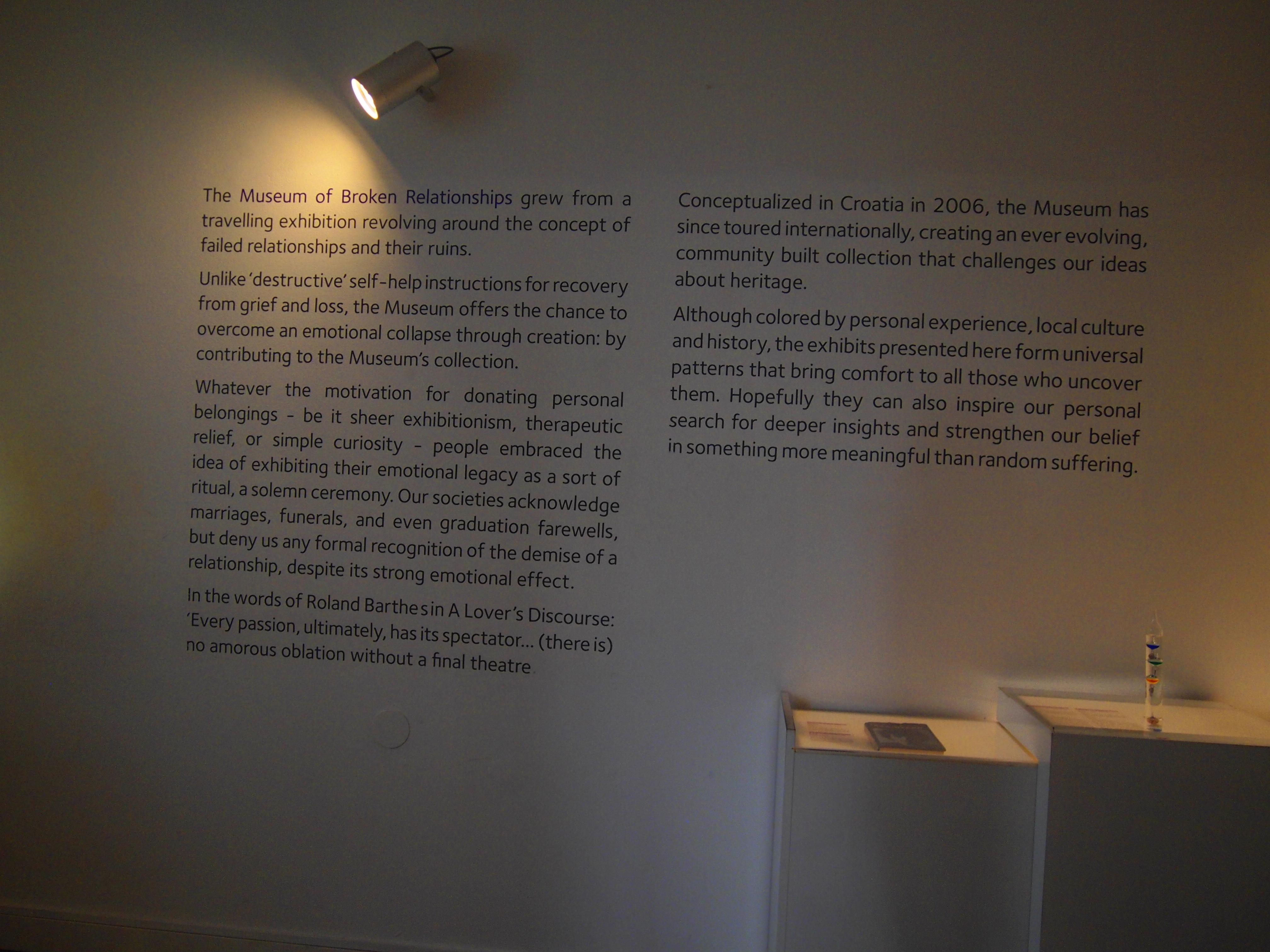 世界一周 ブログ クロアチア ザクレブ 観光 失恋博物館