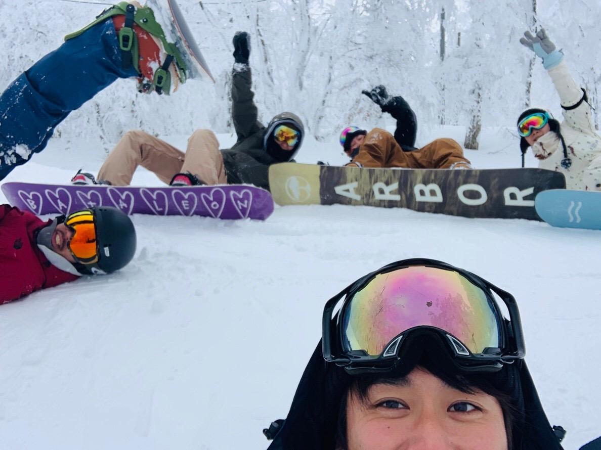 家族スノーボード